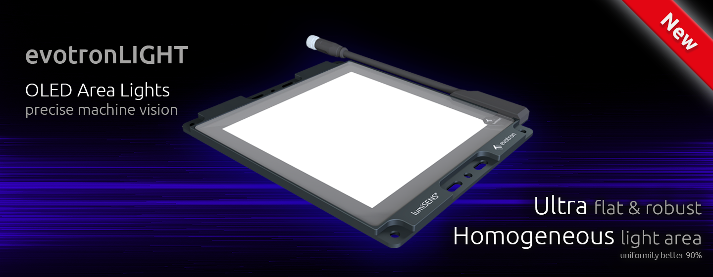OLED area light for machine vision