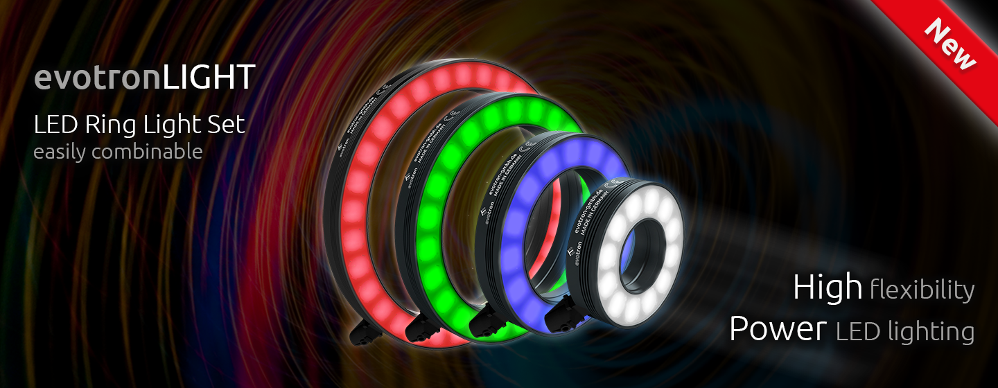 Power LED ring light set for machine vision